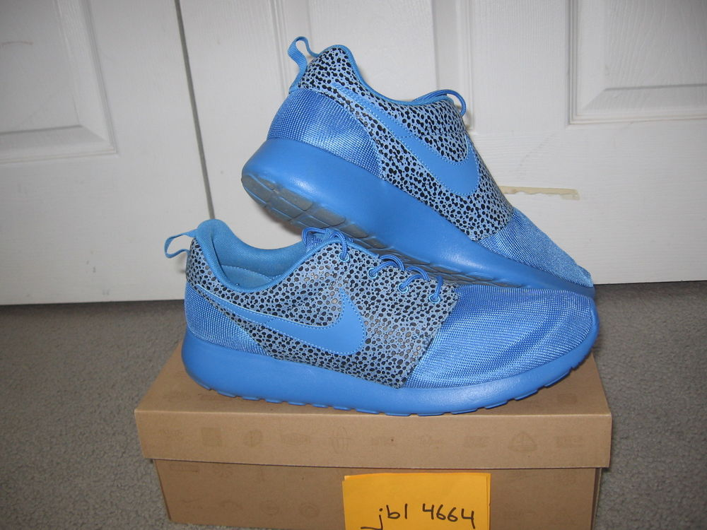 622ba70bcde8d RARE Nike Roshe Run Premium x BLITZ BLUE Safari Pack Sz 12 ...