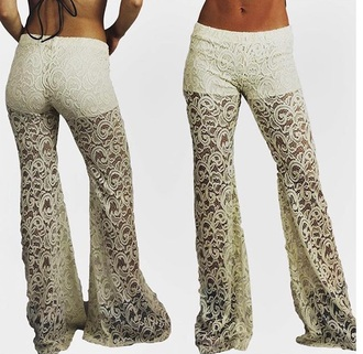 pants white lace summer trendy fashion free vibrationz
