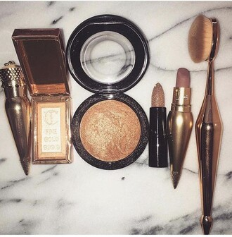 make-up gold makeup brushes