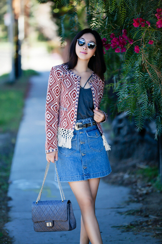 sunglasses jewels fit fab fun mom blogger t-shirt jacket skirt belt shoes bag sunnies mirrored sunglasses style trendy chanel reissue chanel reissue bag reissue reissue bag