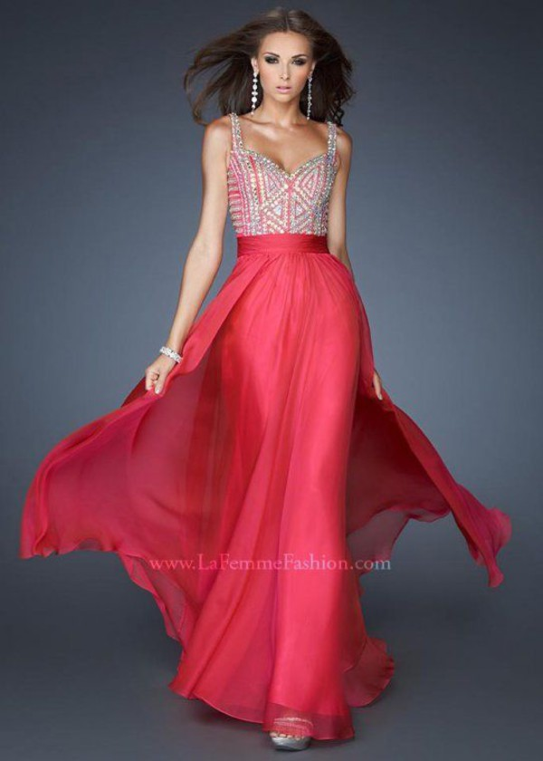 Raspberry colored prom dresses