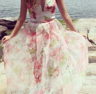 dress bridesmaid floral summer dress