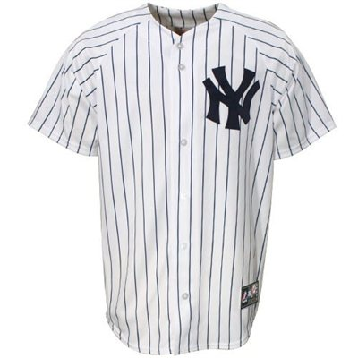 Fanatics.com: Majestic New York Yankees White Replica Baseball Jersey