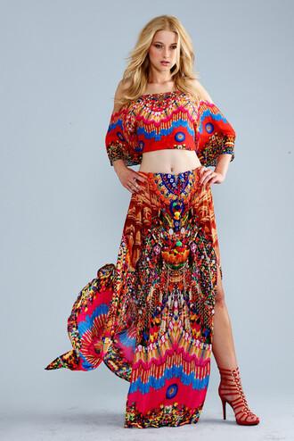 dress luxury red skirt crop tops parides bikiniluxe