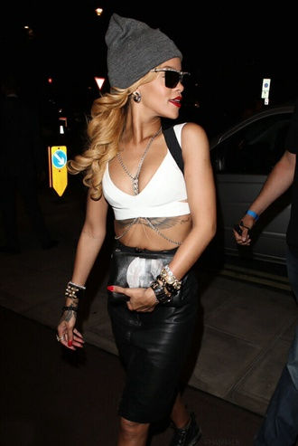 skirt rihanna shirt bag