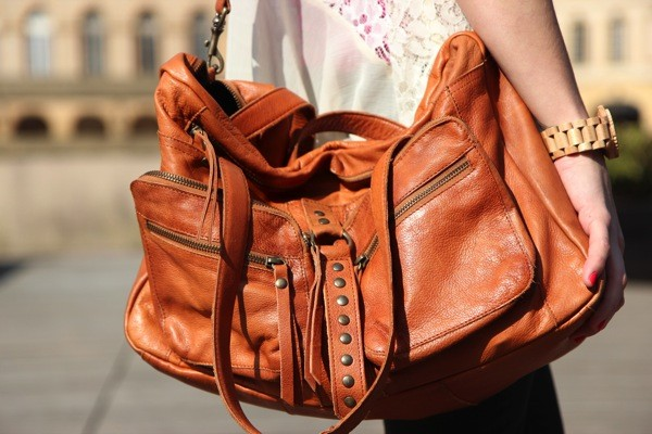 bag leather bag brown bag