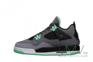 Nike air jordan iv retro green glow gs