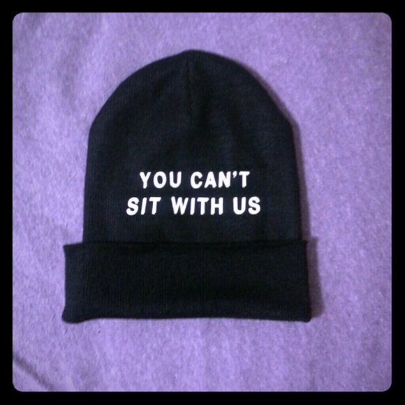 76% off  Accessories - Mean Girls You Can't Sit With Us Beanie Hat from !              ...'s closet on Poshmark