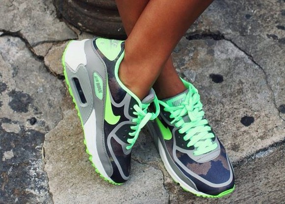 shoes sincerely jules nike airmax green nike air neon