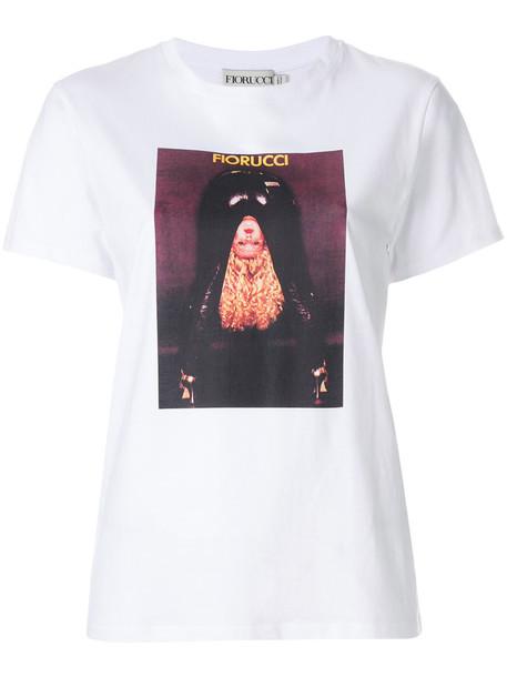 FIORUCCI t-shirt shirt t-shirt women white cotton print top
