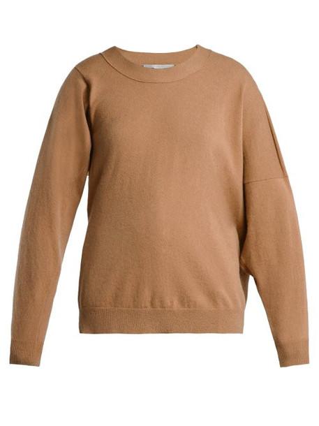 Stella Mccartney - Asymmetric Wool Blend Sweater - Womens - Camel