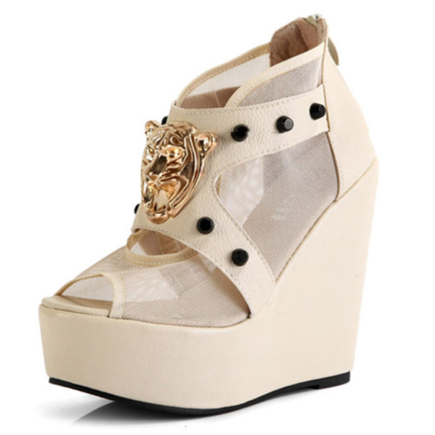 shoes tiger wedges