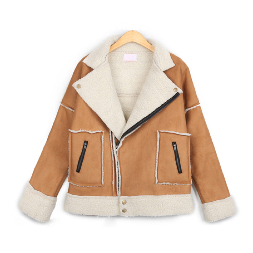 Tan Sheepskin Coat | Down Coat