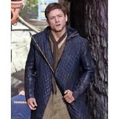 coat,movie,robin hood,celebrity,taron egerton,leather coat,fashion,ootd,style,menswear,outfit,shopping