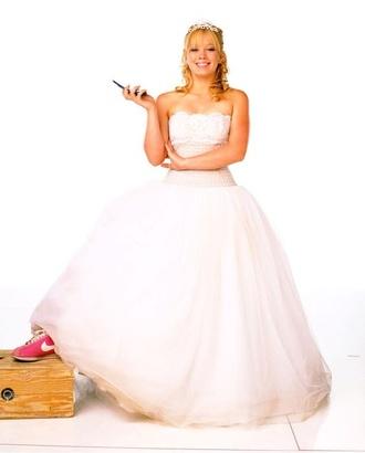 dress white hilary duff a cinderella story lace glitter