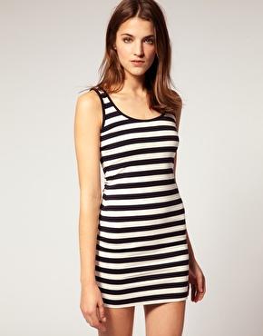 Warehouse stripe tank dress at asos