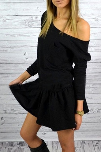 dress black dress office outfits black skater skirt rose wholesale pretty zaful girl beautiful