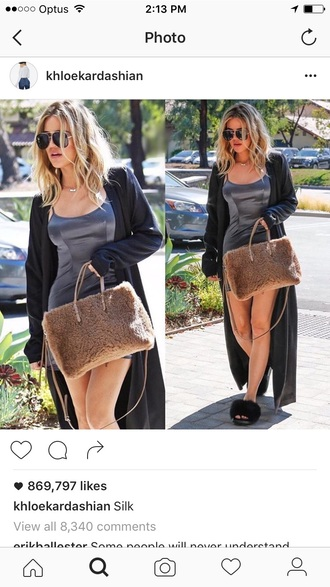 dress khloe kardashian grey silk