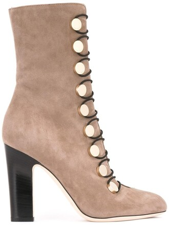 women 100 boots leather nude suede shoes