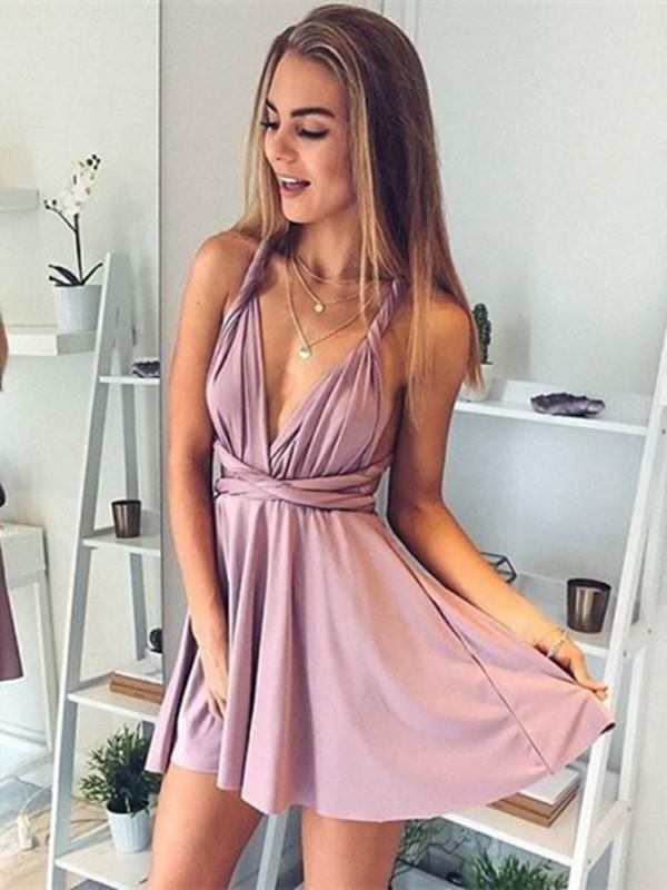 V-Neck Short Prom Dresses