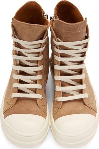 shoes brown sneakers rick owens