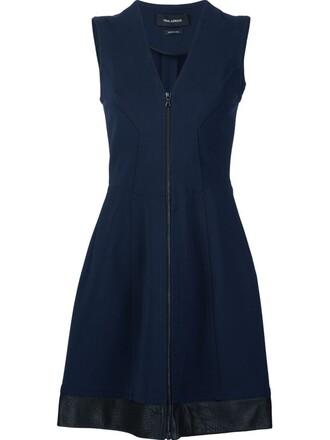 dress zip blue