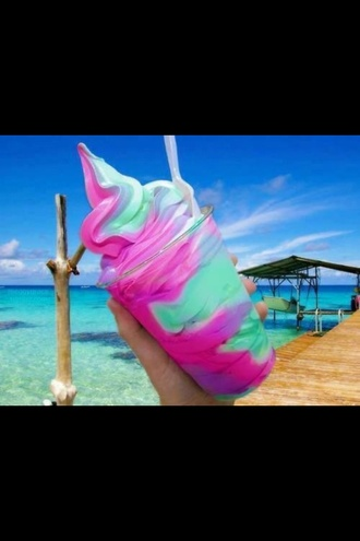 t-shirt ice summer beach pink green purple blue white mint ice cream colorful