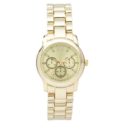 Merona® Gold Tone Small Boyfriend Watch : Target