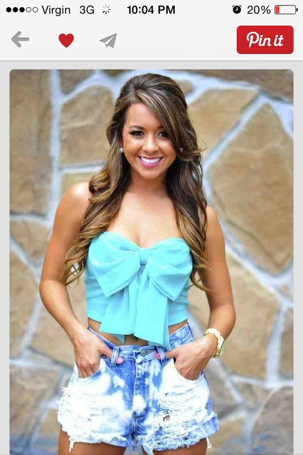 blouse cute baby blue perfect