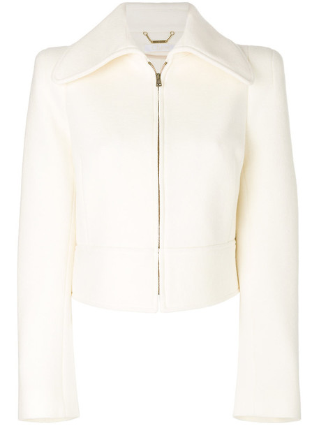 jacket cropped jacket cropped women nude cotton wool