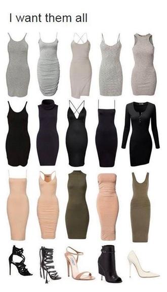 dress bodycon dress mini dress grey dress black dress pink dress knitted dress