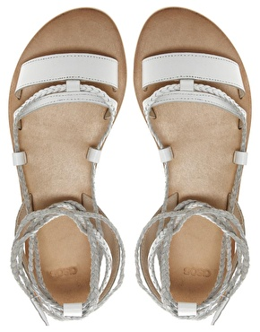ASOS | ASOS FOREVER Leather Flat Sandals at ASOS