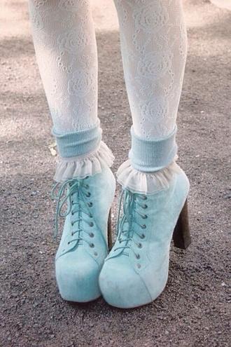 platform shoes pastel