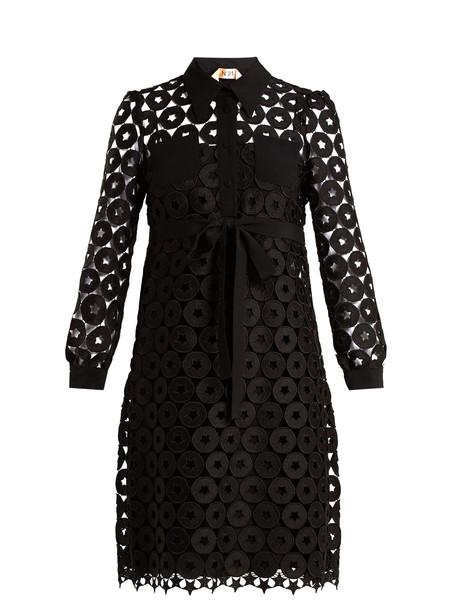 shirtdress embroidered lace black dress