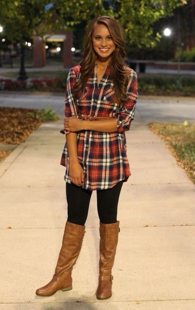 blouse plaid shirt