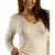 Long Sleeve V-Neck Shirt in Organic Wool for Women | Danish Wool