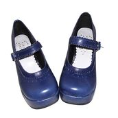 shoes,blue,navy,blue shoes,cute,girly,lolita,chunky sole