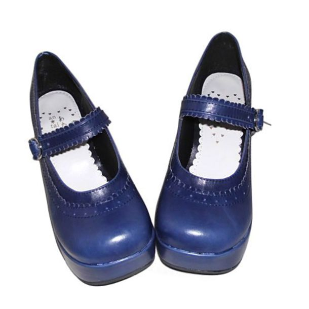 shoes blue navy blue shoes girly chunky