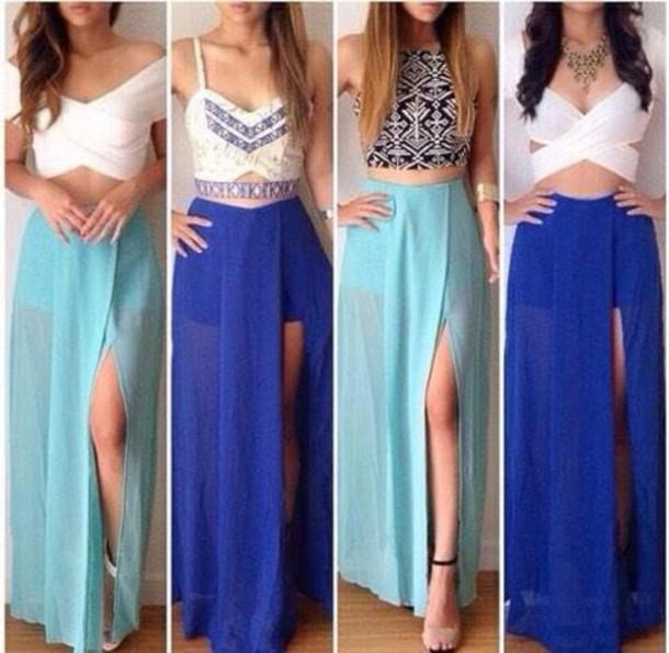 skirt cyan skirt blue skirt long skirt