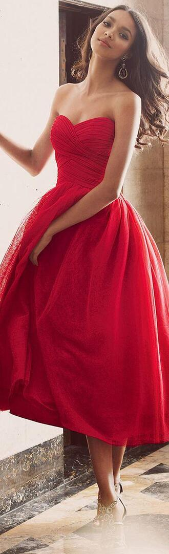 dress red dress long red dress prom dress prom re d red beautiful ankle length red prom dress clothes\ ellie saab tea length cocktail dresses tea length prom dresses tea length party dreses knotted ruched prom dress