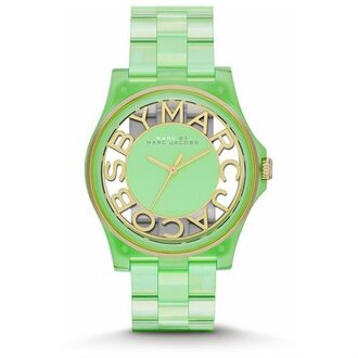 jewels marc jacobs marc by marc jacobs marc jacobs watch watch gold watch green mint gold jewelry green watch beautiful mint watch