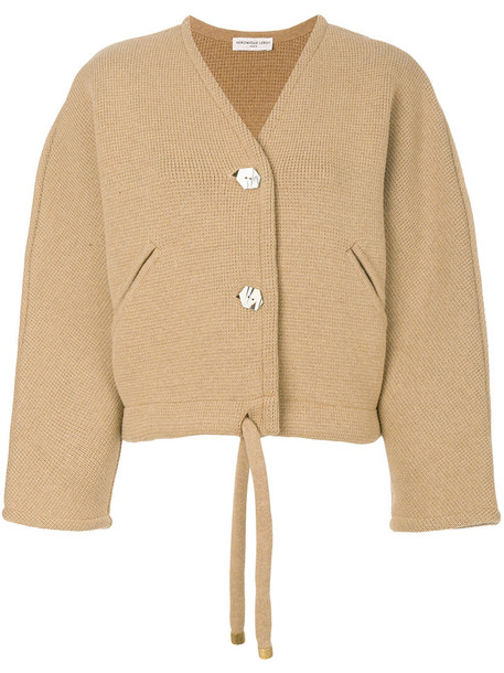 Veronique Leroy jacket cropped jacket cropped women brown