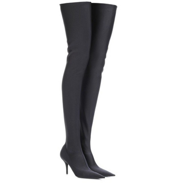 Balenciaga Knife over-the-knee boots in black