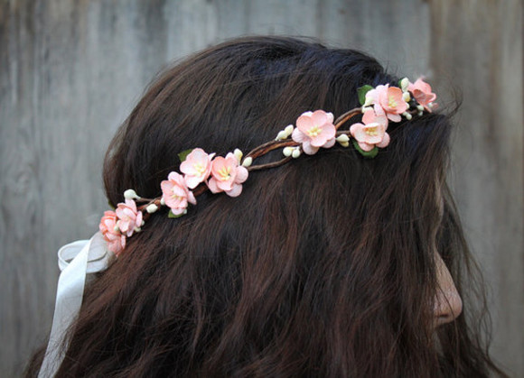 ribbon floral hair crown flower crown rose crown hair accessories accessories festival festival wear summer outfits ootd