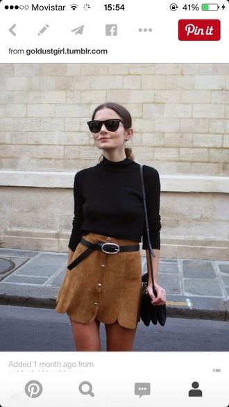 skirt cool hunter suede skirt fashion beige skirts button up skirt suade brown skirt