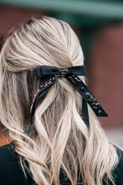 hair accessory hair hair bow blonde hair bows&sequins blogger
