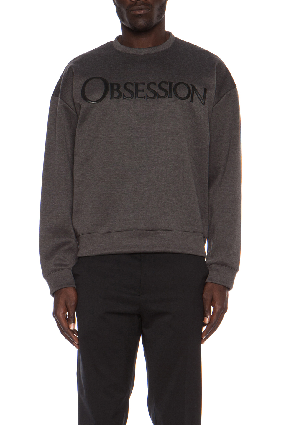 Calvin Klein Collection | Oversized Obsession Poly-Blend Sweatshirt in Gotham