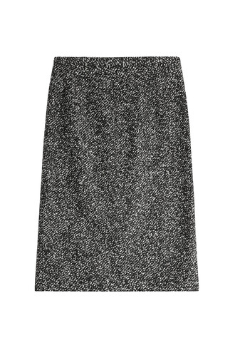 skirt fur wool multicolor
