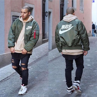 jacket nike bomber jacket olive green army green jacket nike nike air jordans japan menswear