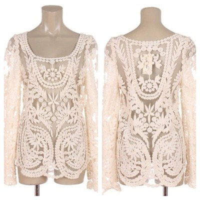 Beautiful lace long sleeve blouse/top · doublelw · online store powered by storenvy